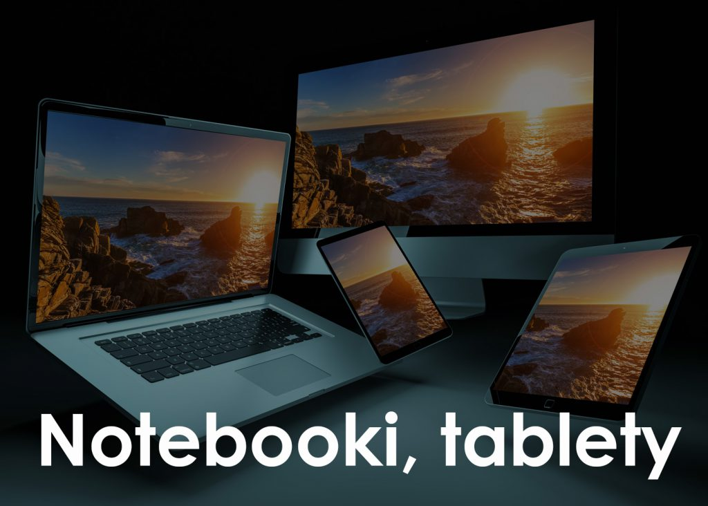Notebooki, tablety